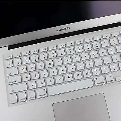 TECH White ENKAY Soft Silicone Keyboard Protector Cover Skin for MacBook Air 13