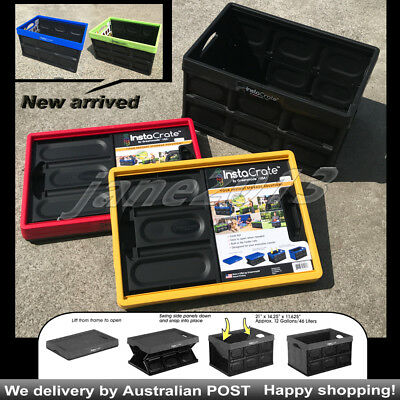 Archive Box 46 Litre InstaCrate Collapsible Crate Car Storage Container 5 COLOUR