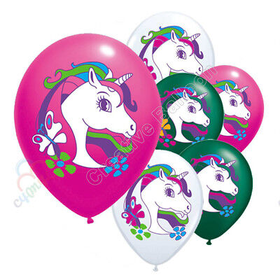 10PCS Unicorn Balloon Kids Birthday Party Wedding Decoration Xmas Halloween CA