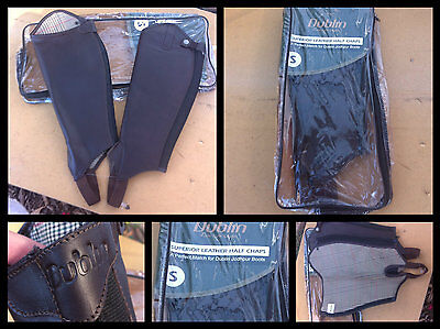 Dublin Superior brown leather gaiters sz small
