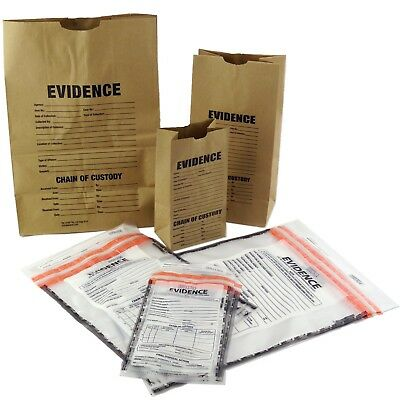 Evidence Bags Paper and Plastic Sample Pack