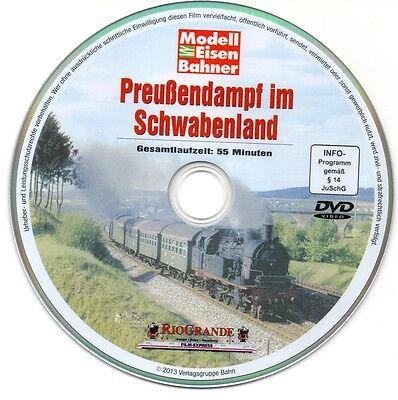 MEB Riogrande Video DVD Preußendampf im Schwabenland Dampflok Film