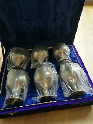 Vintage silver mini goblet set