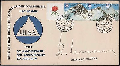 Nepal 1982 Rare Himalaya Everest Reinhold Messner Signed Expedition Cover