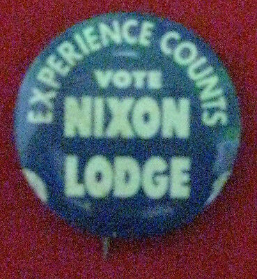 Vintage Campaign Button Richard M. Nixon for President, 1960 (# 403)