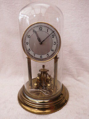 Large Vintage Working German Torsion Clock For Tlc