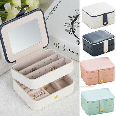 Portable Travel Jewelry Box Organizer Leather Case Storage Christmas Gifts Girl