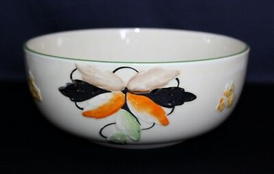 Art Deco MYOTT, Son & CO Hand Painted With Raised Flowers & Foliage BOWL