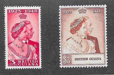 British Guiana Sg 322-323 Silver Wedding A-21