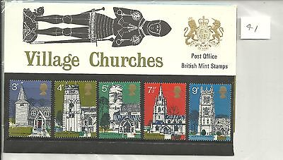 Great Britain Village Churches Post Office Pack 1972 Sg Pp41