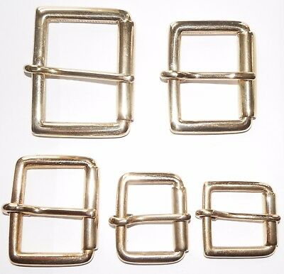 SOLID BRASS ROLLER BUCKLE 2 - 1 3/4 - 1 1/2 -1 1/4 - 1 INCH - 50mm - 25mm,
