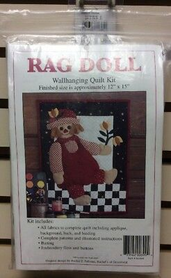 Rag Doll - Wallhanging Quilt Kit Batting Included Full Instructions - Fabric