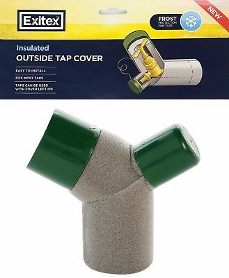 Exitex Insulated Outside Garden Tap Cover Winter Outdoor Frost Protection