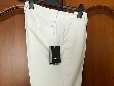 Nike White Ladies Modern Fit Golf Trousers Bnwt