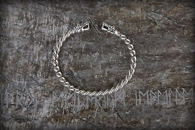 Bracelet with wolves heads Silver-plated Bronze, Stark