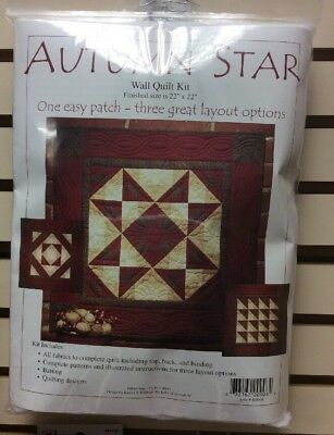 Autumn Star Wallhanging Quilt Kit Batting Included Full Instructions - Fabric