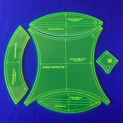 Templates for patchwork : Double Wedding Ring 10 inches block