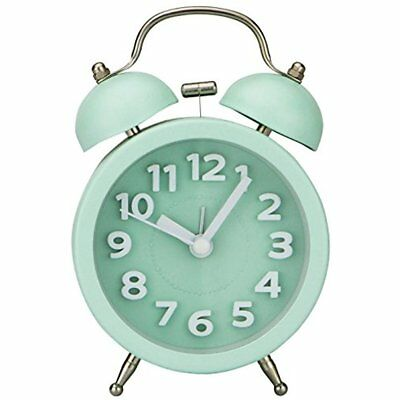 "Alarm Clock  3"" Mini Non-ticking Vintage Classic Bedside Backlight, Loud Alarm"