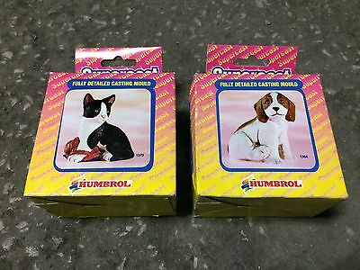 2 x Supercast Moulds (Cat & Dog) No 1373 & 1364 (un-used/old shop stock)