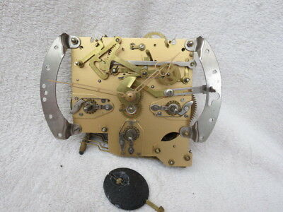 Lot 1 Smiths Enfield Westminster Chime Clock Movement Hands And Pendulum