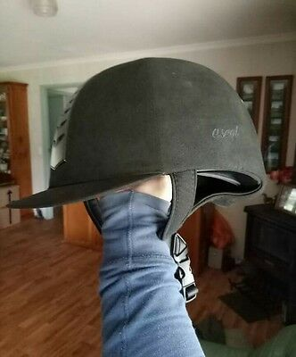 Brand new black riding helmet