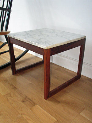 Stunning Rosewood Marble Coffee Table Modernist 60s 70s Danish Knoll Vintage