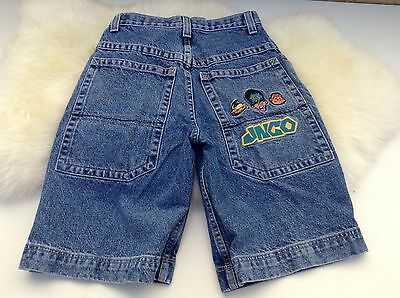 JNCO Boys Vintage Flamehead Action Packed Size 10 Jean Shorts