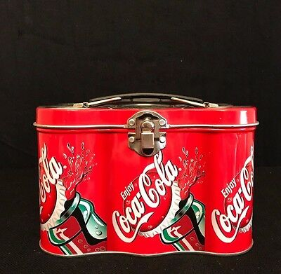 COCA-COLA Metal Lunch Box -Mini 6-Pack Style Box, COLLECTIBLE