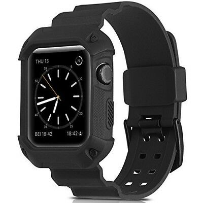 Apple Watch Series 3/2/1 Band 42mm Strap w/ Shockproof Rugged Protective Cover