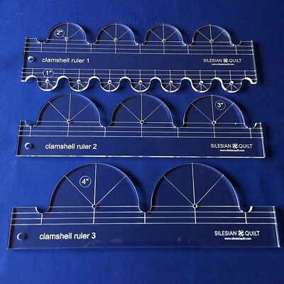 Quilting Template: Clamshell Ruler Set (3 templates)
