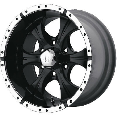 17x9 Black Helo HE791 6x5.5 +18 Rims Federal Couragia MT LT265/70R17 Tires