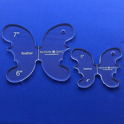 Quilting Template: Feather set - 2 templates (Butterfly)