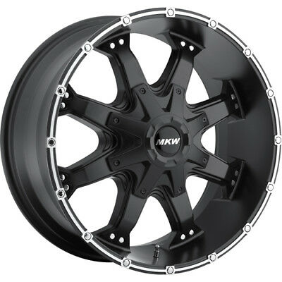 17x9 Black MKW Offroad M83 5x5 +10 Wheels Federal Couragia MT 265/70/17