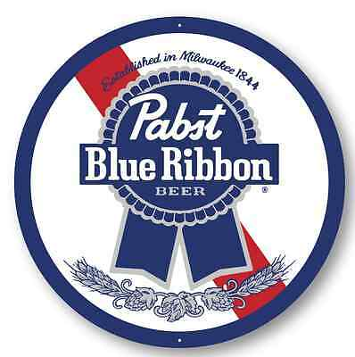 Pabst Blue Ribbon Metal Sign - 24 Inch Diameter