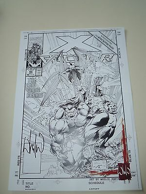 X-Factor Issue 65 Original Art Authentic Print Signed by Whilce Portacio (1990)