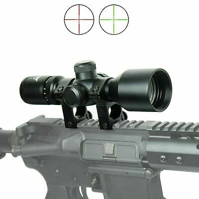 WLT 3-9x40 Hunting / Tactical Rifle Scope Mil-dot illuminated - Compact 7.5""