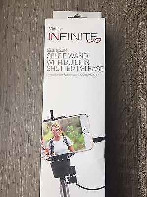 NEW Vivitar Infinit Smartphone Selfie Wand With Built-In Shutter Release NWB