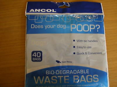 Ancol Dog Poop Bio-degradable 400 waste bags [10x40]