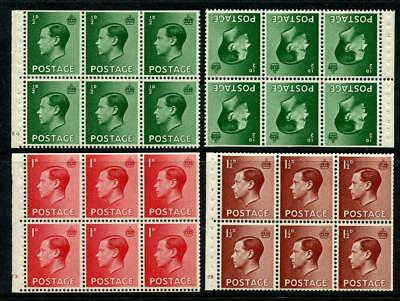 GB EDVIII Booklet Panes MM. inc Cylinder Numbers E4, F3, G5. Cat £320