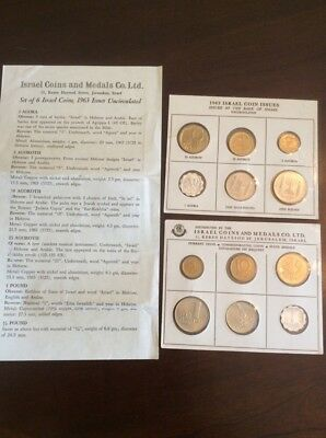 TWO1963 Coins of Israel 6 Coin Brilliant Uncirculated Set, white  Packging