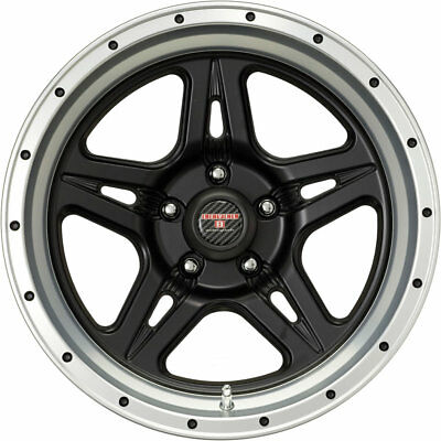 16x8.5 Black Machined Level 8 Strike 5 5x135 -6 Wheels Open Country AT II