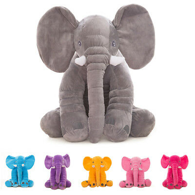 New Fashion Plush Elephant Toy Kids Sleeping Back Cushion Elephant Doll Bab D3U3