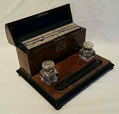 Desk Set with Inkwells and Stationery Box