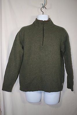 Woolrich Pullover Half Zip Sweater Wool Blend Long Sleeve Mens Size L***