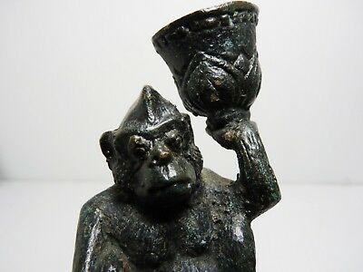 Vintage Metal gorilla Monkey Candle Holder
