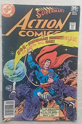 1977 Bronze age Superman starring in action comics