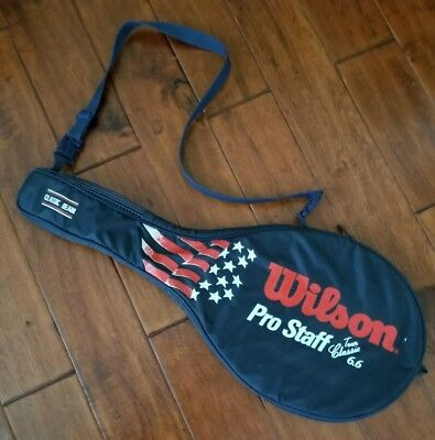 Wilson Pro Staff Tour Classic 6.6 Tennis Racquet Stars Stripes Case/Bag/Cover
