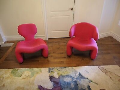 Ultra Modern Pair of Djinn Chairs by Olivier Mourgue *2001: A Space Odyssey*