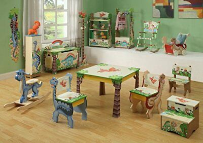 TD-0069A Fantasy Fields by Teamson Dinosaur Libreria, Multicolore