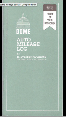 "Dome Auto Mileage Log Book - 770 - SALE: BUY 4 GET 1 FREE! 3-1/4"" x 6-1/4"" NEW."